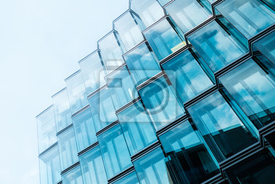 Naklejka modern  architecture, office building glass facade