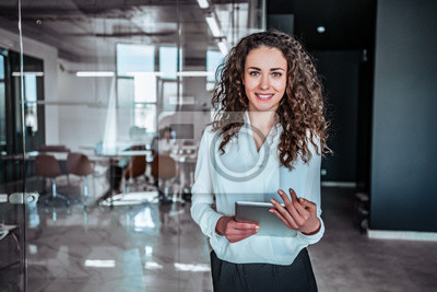 Naklejka Modern business woman