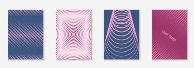 Naklejka Modern catalog with minimalist geometric line and trendy shapes.