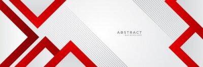 Naklejka Modern red white abstract banner background. Vector illustration design for presentation, banner, cover, web, flyer, card, poster, wallpaper, texture, slide, magazine