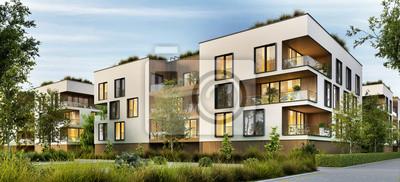 Naklejka Modern residential buildings