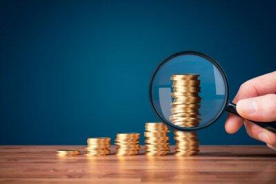 Naklejka Money makes money investment concept