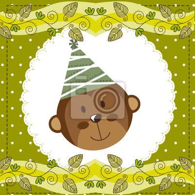 Naklejka monkey Cute