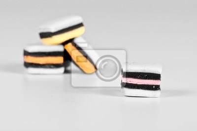 Naklejka Monochromatyczne z selektywnej kolor allsorts
