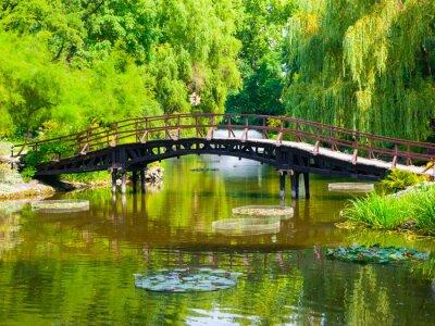 Naklejka Most Ogród