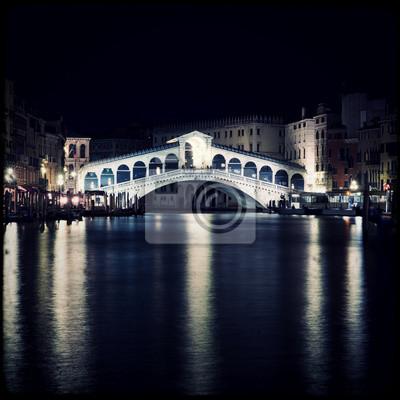 Most Rialto nocą - Wenecja