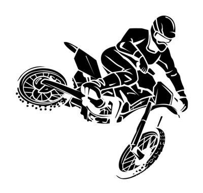 Naklejka Moto cross rider