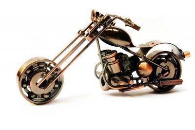 Naklejka Motocykl ładny metaliczny pamiątka samodzielnie nad białym