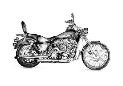 Naklejka Motocykl Llustration rysunek wyizolowanych sztuka