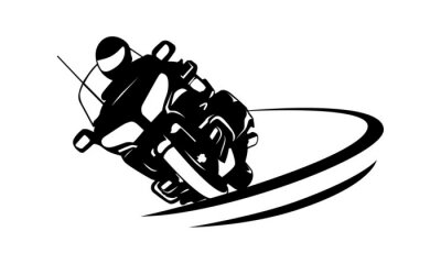 Naklejka Motocykl w Ruchu