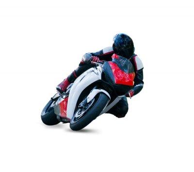 Naklejka Motocyklista