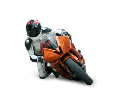Naklejka Motocyklowych na białym tle