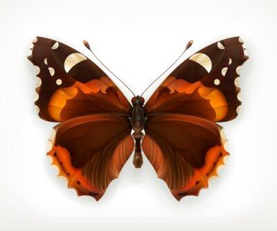 Naklejka Motyl, ikona wektor