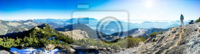 Naklejka Mountain panorama Trainsjoch (2)