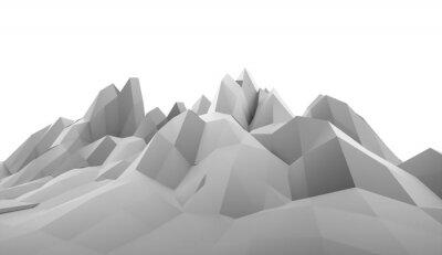 Naklejka Mountain pojęcie abstrakcyjne renderowane