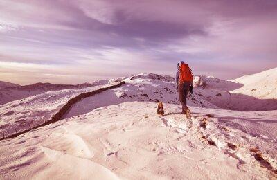 Naklejka Mountain Walking