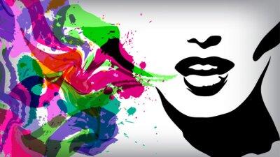 Naklejka Mówiąc kobieta, tło, Pojęcie mody