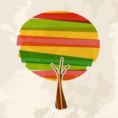 Naklejka Multicolor pojedyncze drzewa