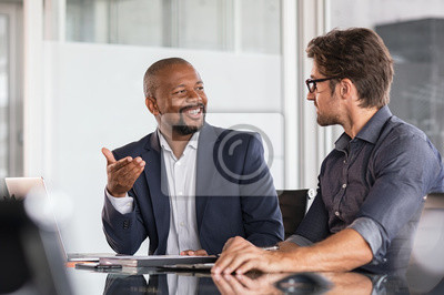 Naklejka Multiethnic business people in meeting
