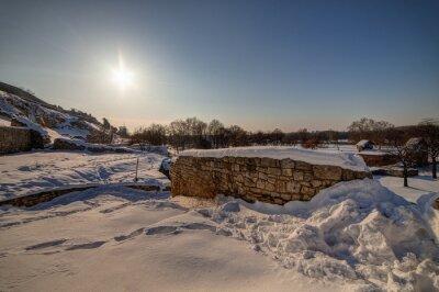 Naklejka mury starej twierdzy