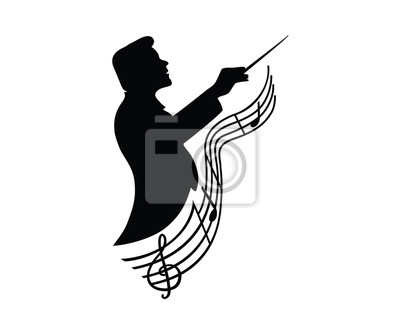 Naklejka Music Conductor