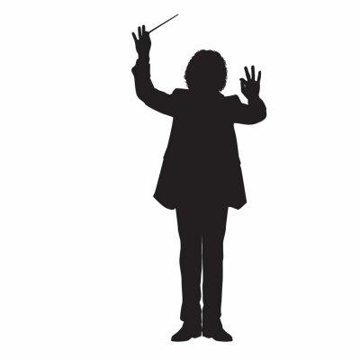 Naklejka Music Conductor Silhouette