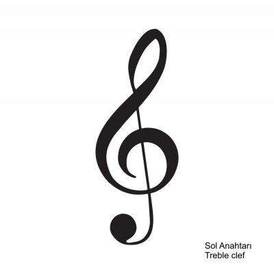 Naklejka music note, musical notes. Vector illustration