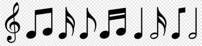 Naklejka Music notes icon set, Music notes symbol, vector illustration