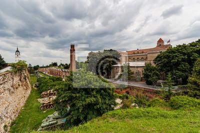 Naklejka Muzeum Wojskowe i wieża zegarowa w belgradzkiej twierdzy