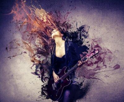 Naklejka muzyk