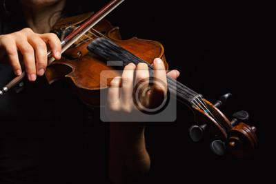 Naklejka Muzyk gra na skrzypcach