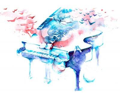 Naklejka muzyka