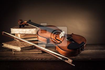 Naklejka Muzyka i sztuka nadal życia