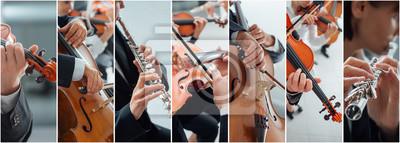 Naklejka Muzyka klasyczna Collage