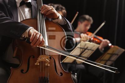 Muzyka klasyczna, wiolonczelista i skrzypkowie