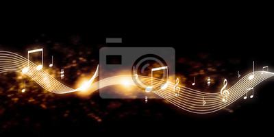 Naklejka Muzyka w tle