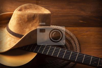 Naklejka Muzyka w tle kraju z gitarą