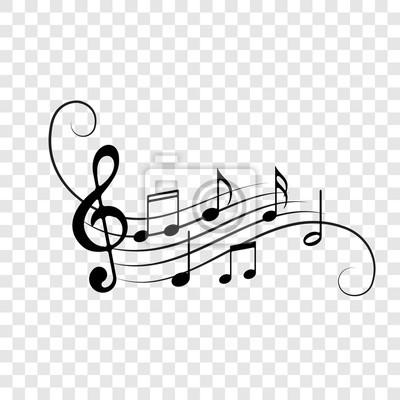 Naklejka Muzyki notatek personelu ikon wektoru tło