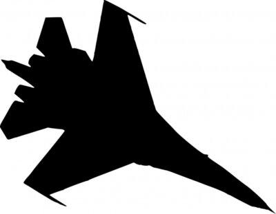 Naklejka myśliwiec