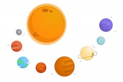 Naklejka Na ilustracji wektorowych systemu solarnego