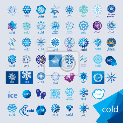 Naklejka Największy zbiór wektora loga zimnem i mrozem