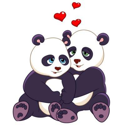 Naklejka namiętne pandy