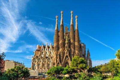 Naklejka Narodzenia Fasada katedry Sagrada Familia w Barcelonie