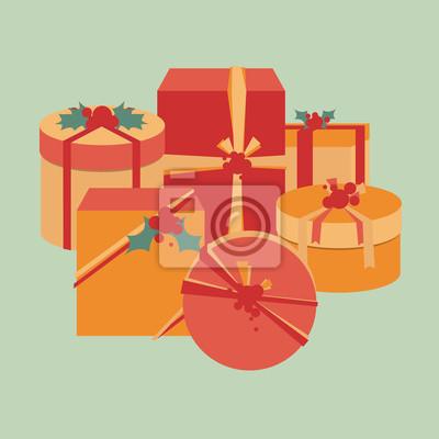 Naklejka Narodzenie z Holly Berry kolekcja