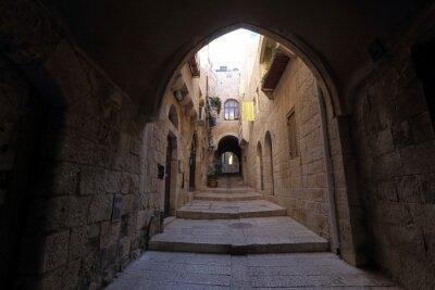 Naklejka Narrow street in Jewish Quarter Jerusalem