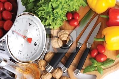 Naklejka narzędzia do gotowania makaronu włoski