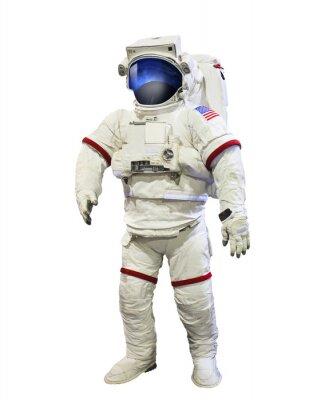 Naklejka NASA astronauta garnitur ciśnienie przestrzeni refleksji na Galaxi mas