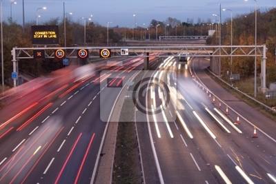 Naklejka Natężenie ruchu Autostrada