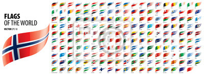 Naklejka National flags of the countries. Vector illustration on white background