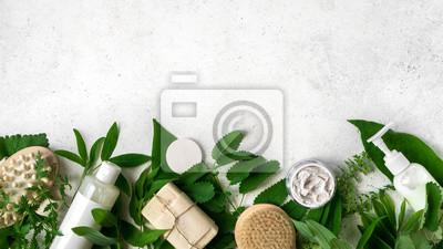 Naklejka Natural Skincare and leaves